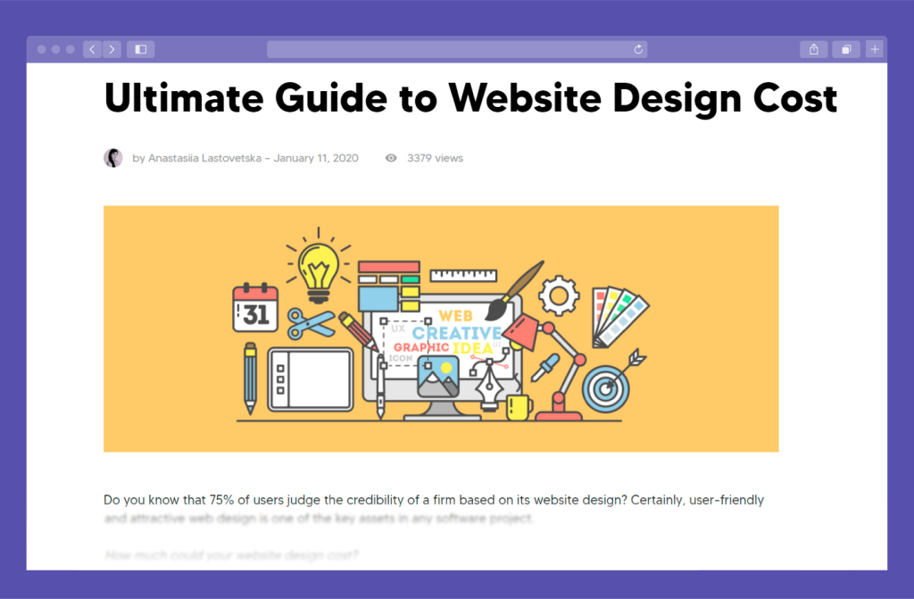 Preview of the Article about Website Design Cost Formation