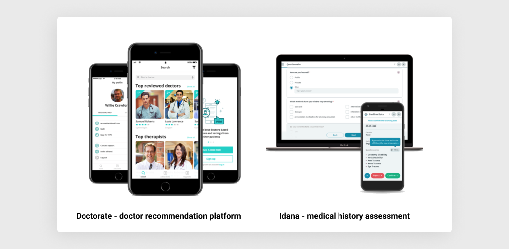 Healthcare Apps Developed by MLSDev: Idana and Doctorate