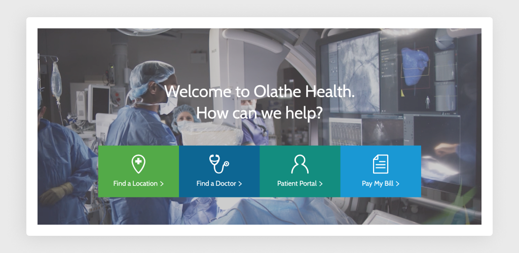 Flat Design of Olathe Health