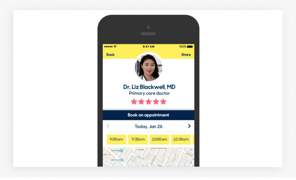 Interface Sample of Doctor Appointment Booking