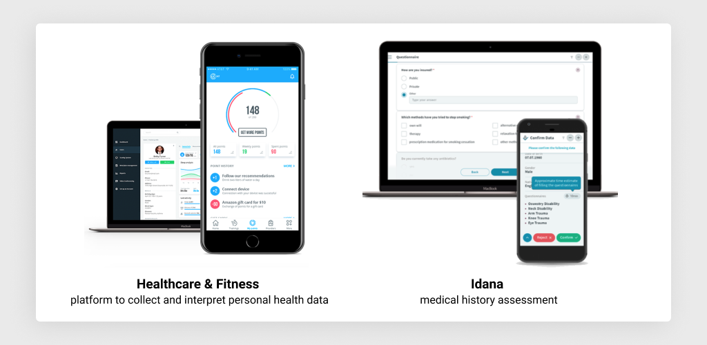 Medical Web Projects Completed by MLSDev: Idana and Health & Fitness