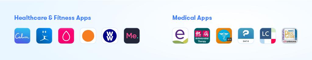 Logos of Best Healthcare Apps