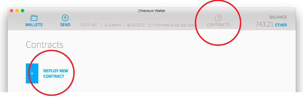 Deploy New Contract in Ethereum Wallet