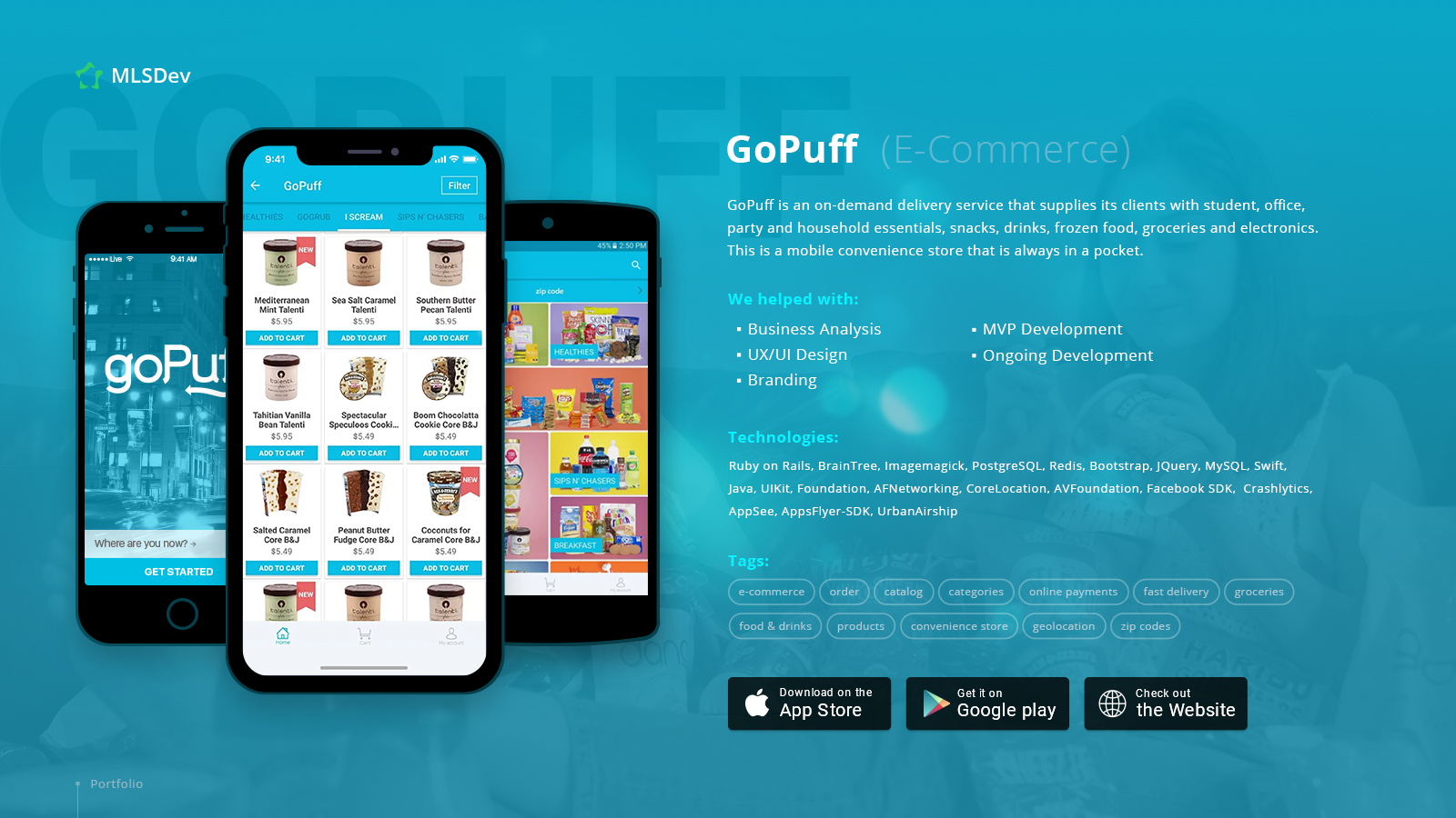 goPuff, On-demand Delivery App