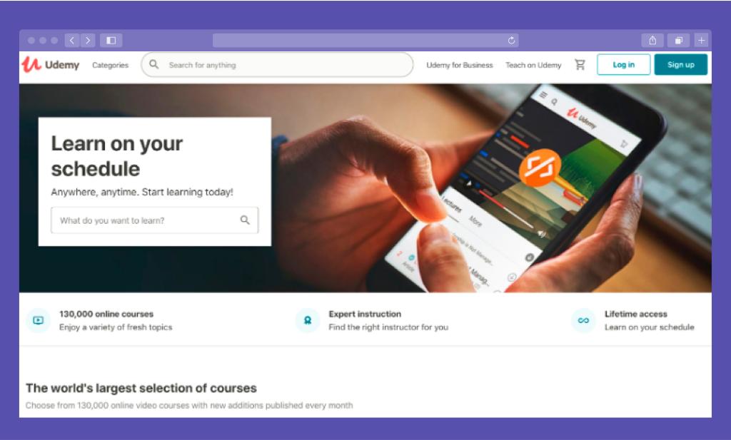 Udemy Website for eLearning