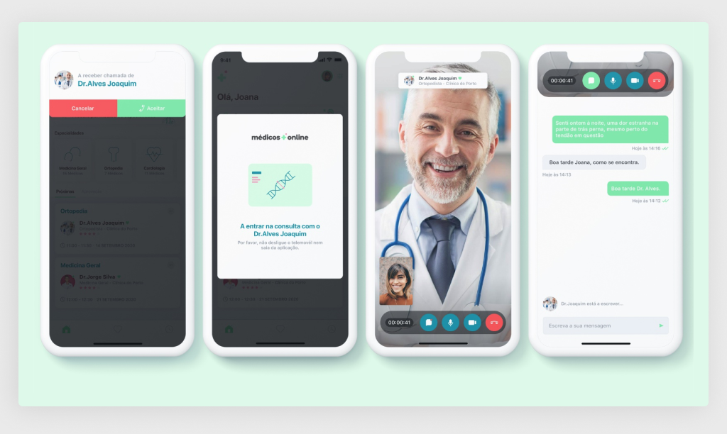 Medical App: Online Conferencing Functionality (Source: Dribbble)