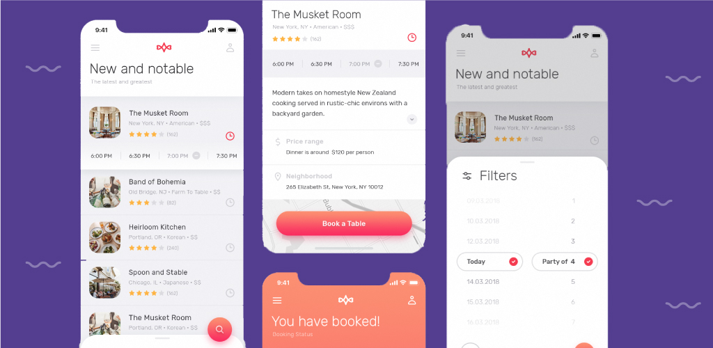 Restaurant Booking App: Design Concept