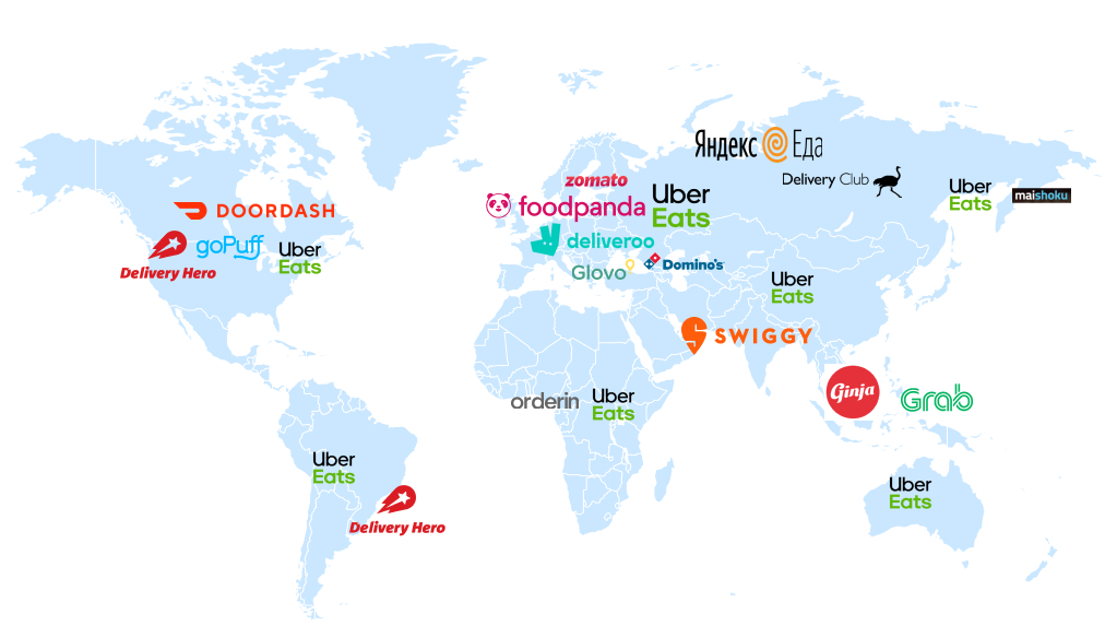 Food-Delivery App Players on the Map