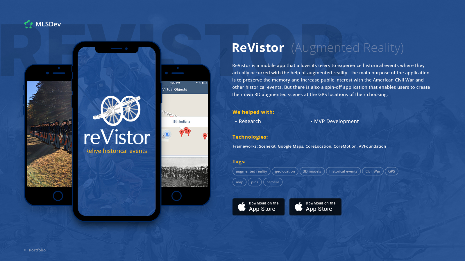 ReVistor: AR App with Location-Based Functionality