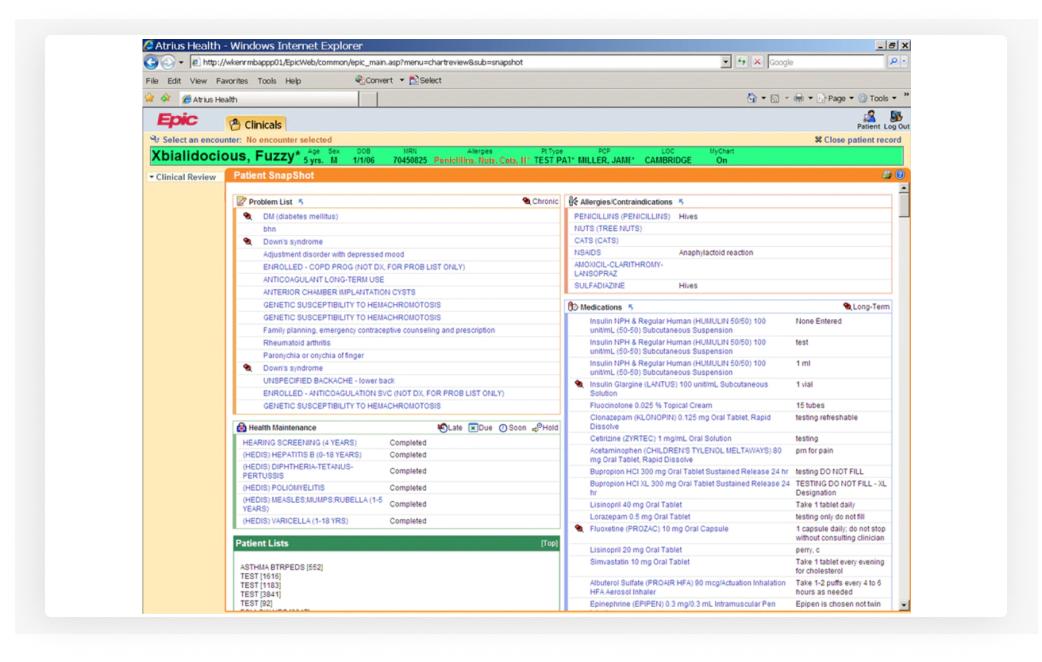 EpicCare EHR Software