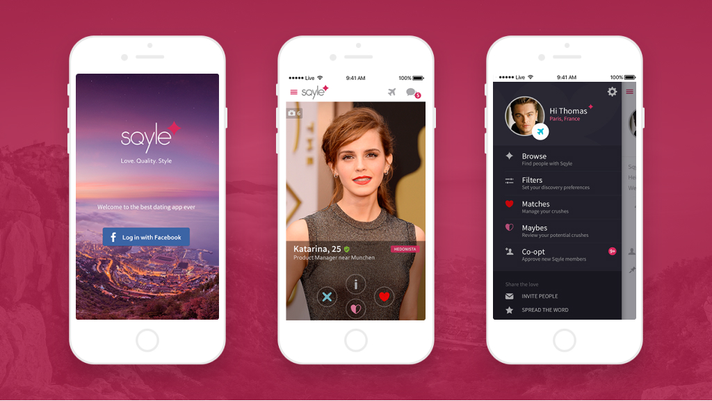 Sqyle Dating App Screens