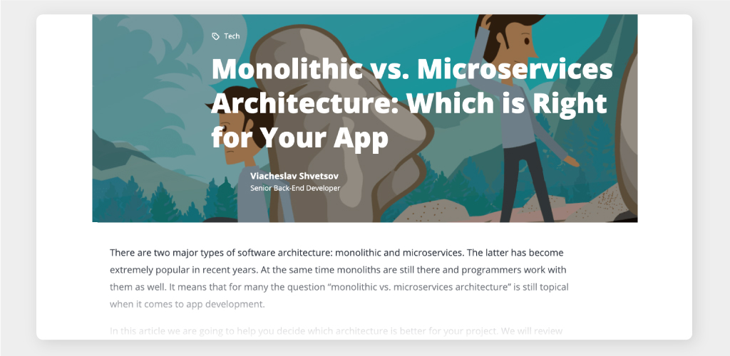 Article: Monolithic vs. Microservices Architecture Comparison