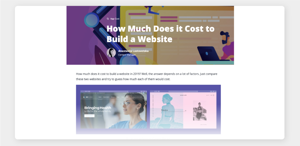 Complete Guide & Infographic on Cost to Create a Website