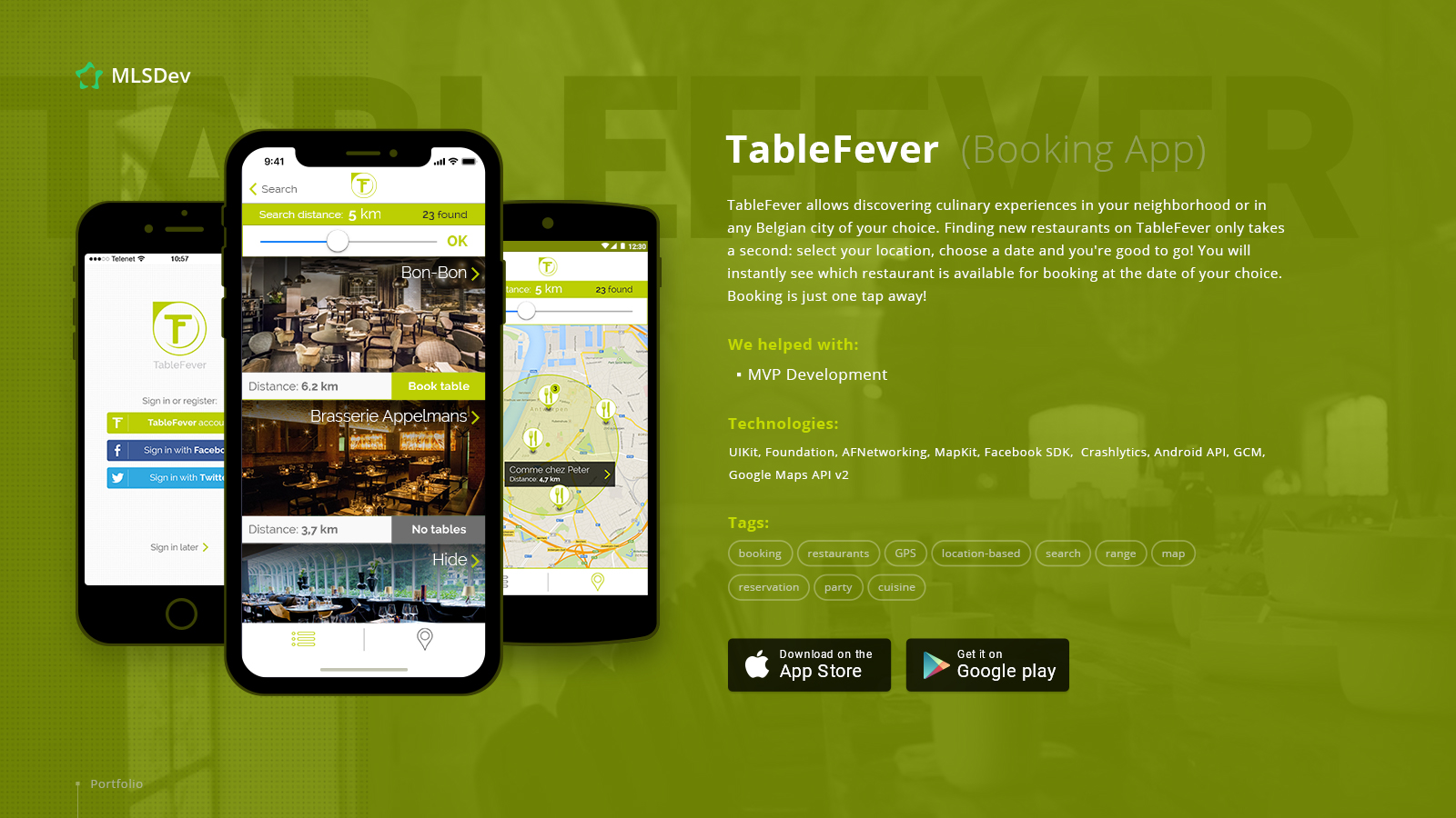 Restaurant Table-Reservation App: TableFever