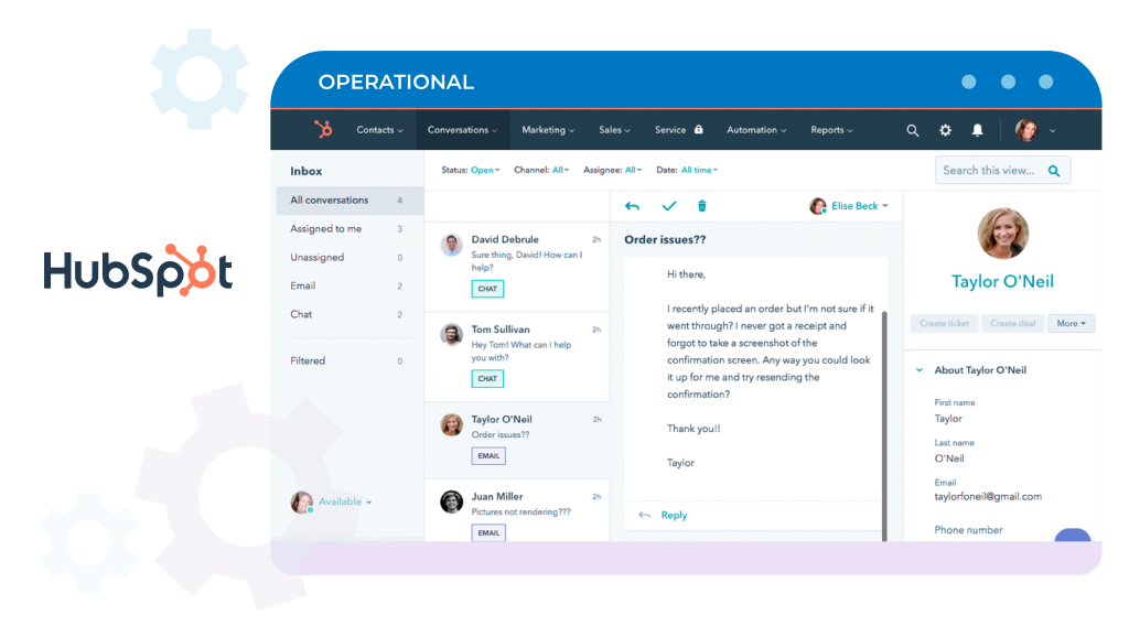 Hubspot- Operational CRM System Example