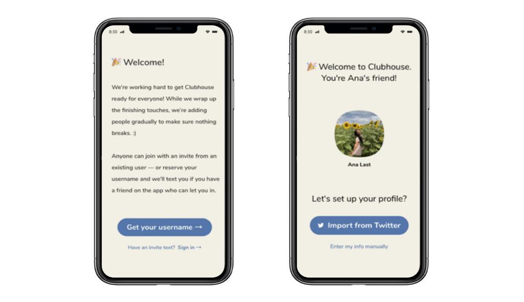 Clubhouse App Development: Onboarding Screens