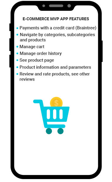 E-commerce MVP App Features