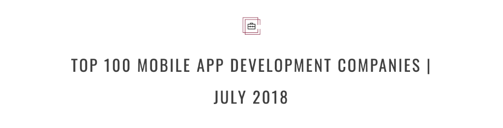 MLSDev is among Top 100 Mobile App Development Companies in 2018