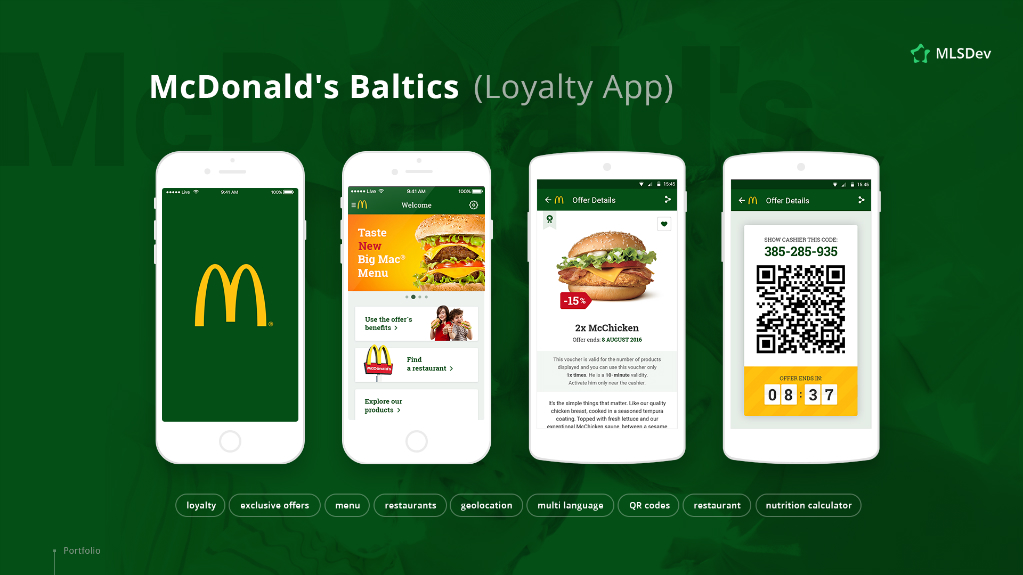 McDonald's Baltics Developed by MLSDev