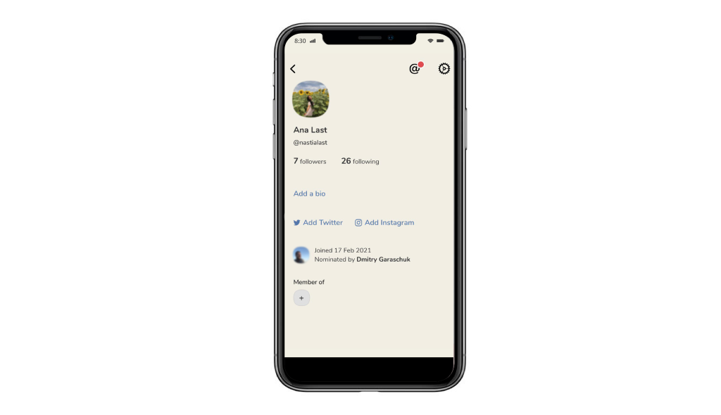 User Profile on the Clubhouse App