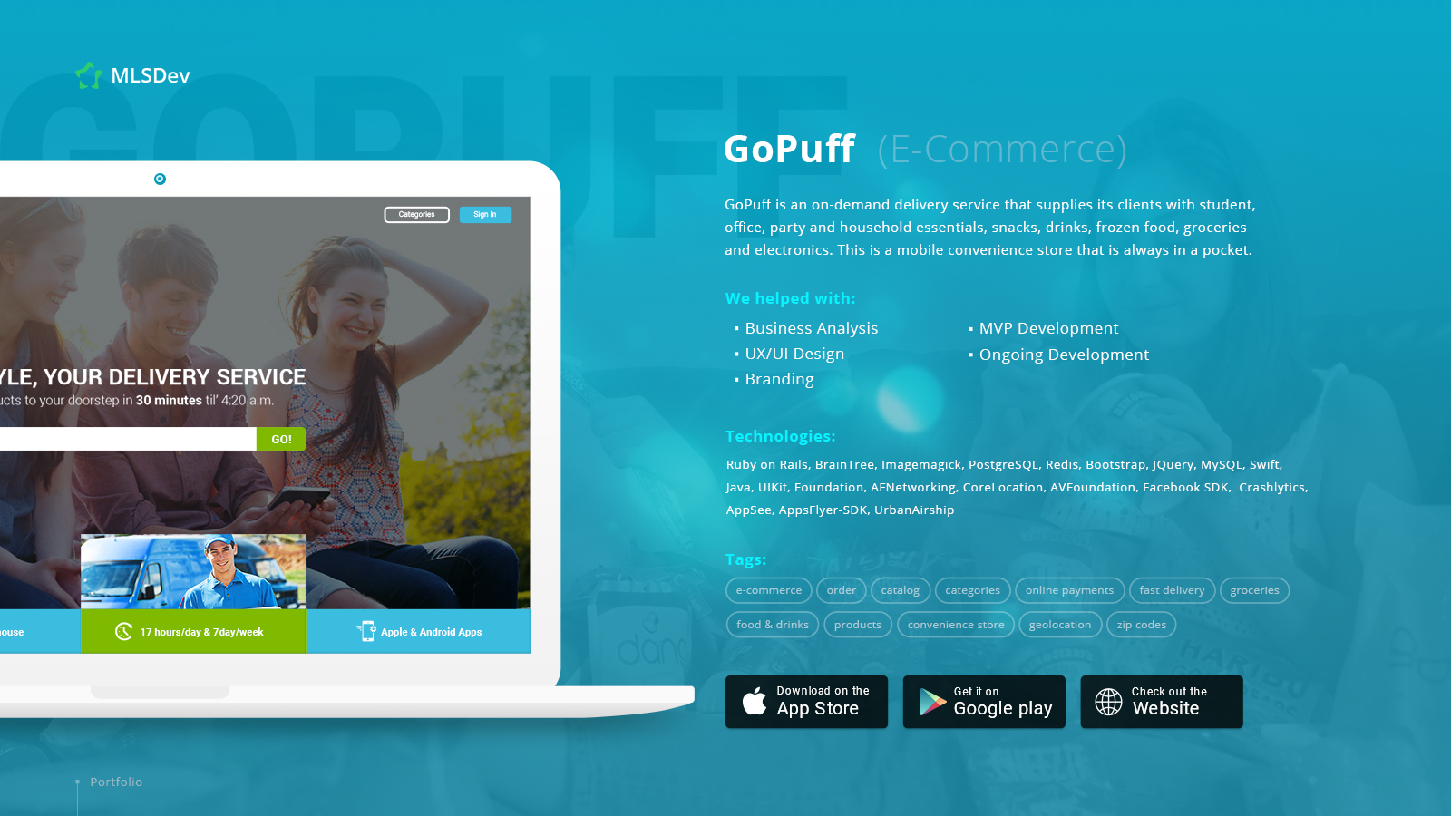 GoPuff: Online Ordering & Delivery Website