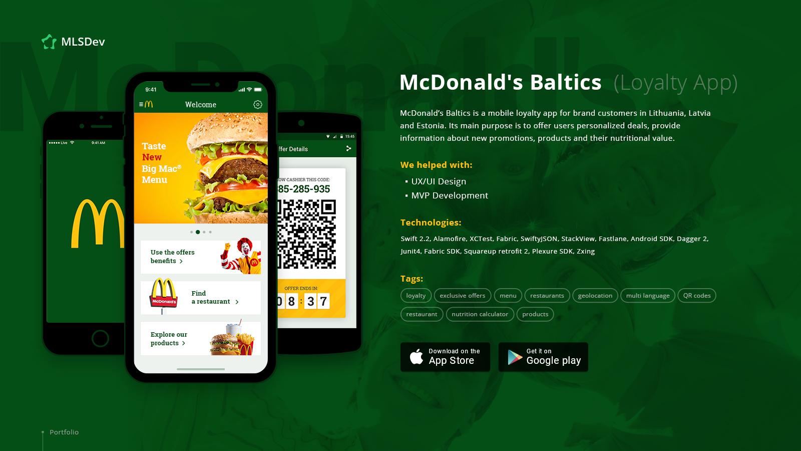 McDonald's Baltics: Loyalty App