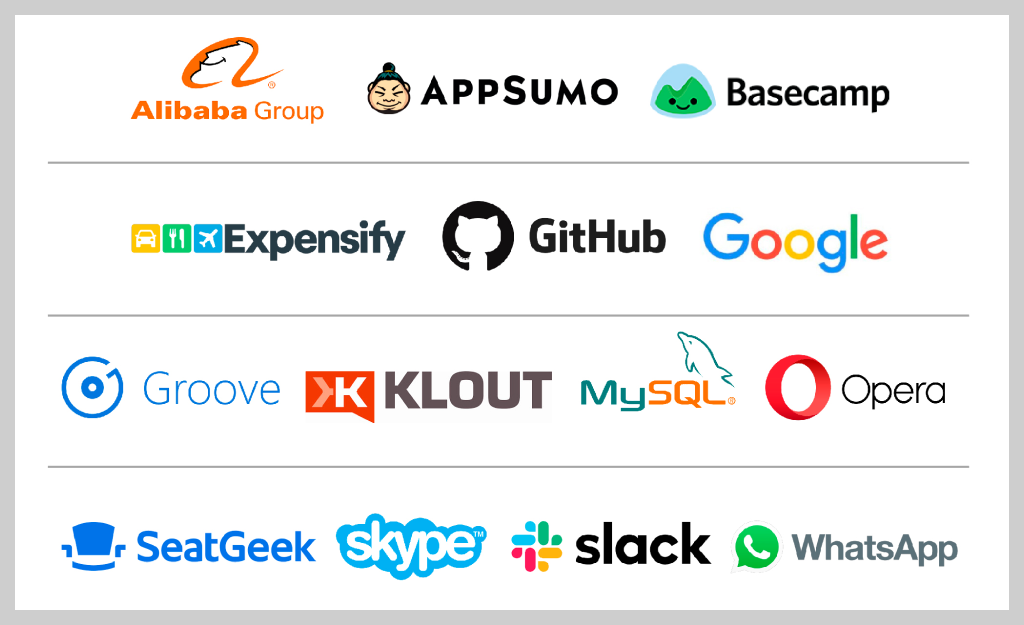 Logos of Companies that Outsource Software Development